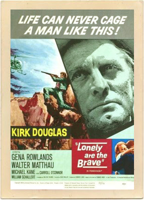 Vintage poster for the movie Lonely Are The Brave.
